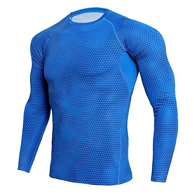 buy bright n colour low price Mens Dri-fit Long Sleeve Compression Workouts Shirt Under ...