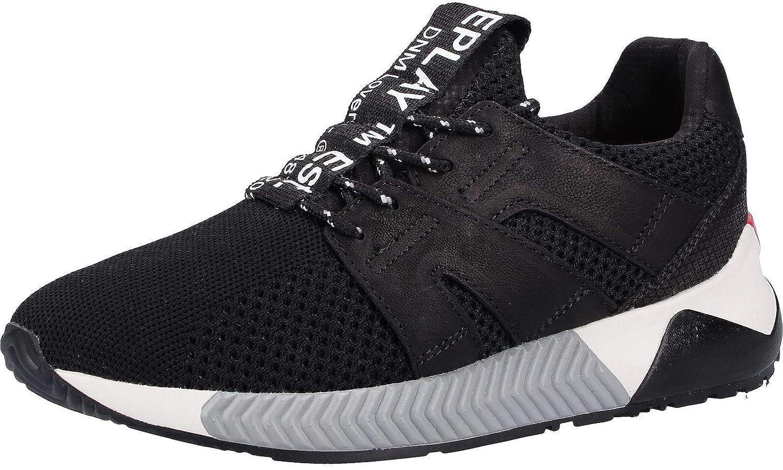 Replay RS830007T - Hauszapatos de Cuero Hombre negro(blanco)
