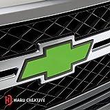 Haru Creative Matte Green Chevy Emblem Overlay