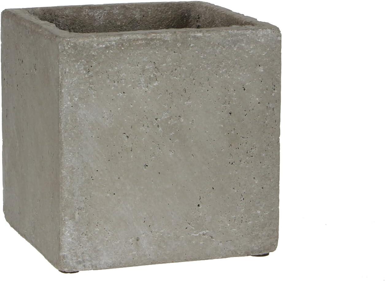 Mica decoraciones jardinera Jimmy, cemento, H.Grau, 15 x 15 x 15 cm: Amazon.es: Hogar