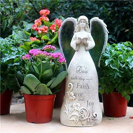 JPVGIA Estatua artesanía Adornos de jardín Sol Ángel Escultura Cemento Compuesto Estatua del jardín de la Yarda del césped del Paisaje decoración Hace el Regalo - 14,5 * 16,5 * 34cm: Amazon.es: Hogar
