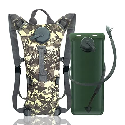 ee68ed10d932 econoLED US Army 3L 3 Liter (100 Ounce) Hydration Pack Bladder Water Bag  Pouch Hiking Climbing Survival Outdoor Backpack
