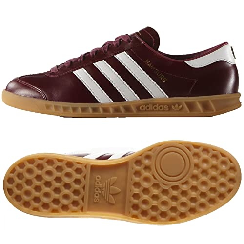 official photos 91c9b 01a72 Adidas Originals Hamburg MIG Made in Germany S31603 Burgundy Leather Mens  Shoes (size ...