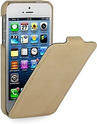 StilGut, UltraSlim, pochette exclusive de cuir véritable pour l'iPhone 5 & iPhone 5s d'Apple, Abricot (Edition Vintage)