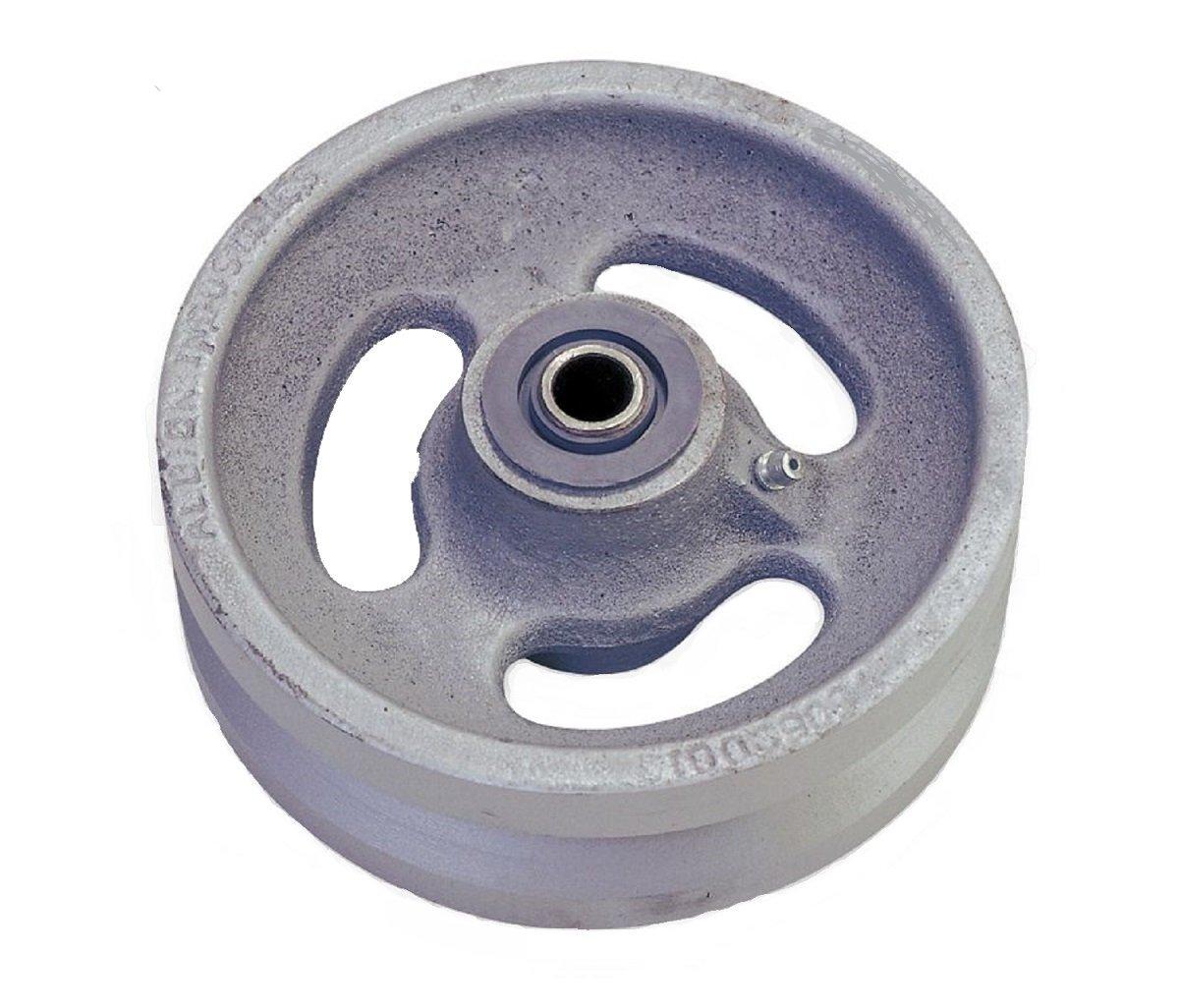 Albion VG0620112 6'' Cast Iron V-Groove Caster Wheel, 2'' Tread Width, Roller Bearing, 1000 lb. Capacity