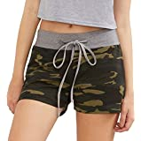 JWK Women's Hot Pants Sexy Athletic Low Waist Drawstring Slim Camo Short