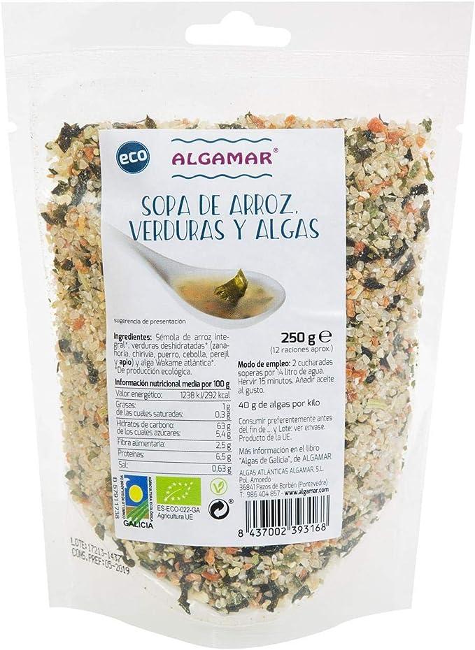 ALGAMAR Sopa DE ARROZ, Verduras Y Algas 500 G, No aplicable ...