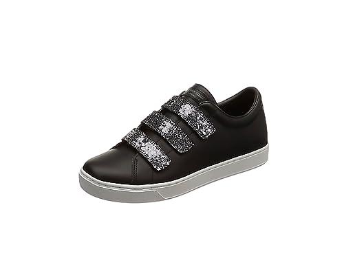 Skechers Prima-Glitter Box, Zapatillas para Mujer, Negro (Black/Pewter), 39 EU