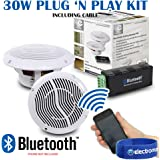 "Kitchen & Bathroom Wetroom Bluetooth Wireless Amplifier 2 x 5"" Ceiling Speakers"