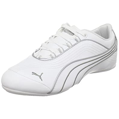 all white leather puma shoes
