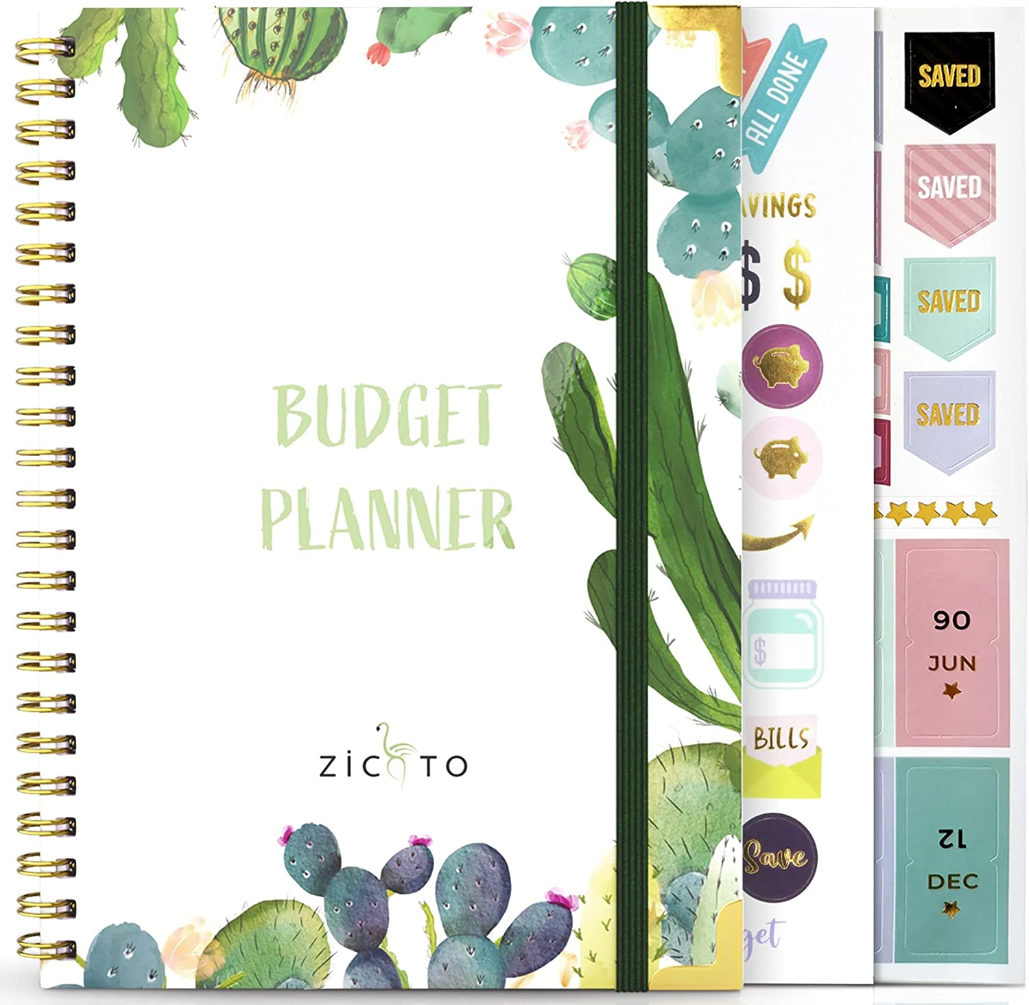 Simplified Monthly Budget Planner - Easy Use 12 Month Financial Organizer with Expense Tracker Notebook - Undated Monthly Money Budgeting Book For 2021 & 2022 That Manages Your Finances Effectively