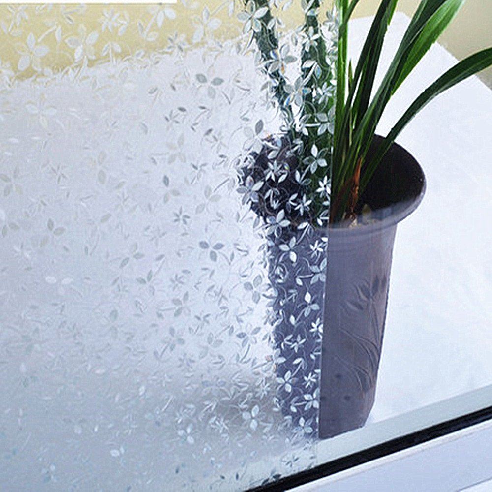 FACAI Pastoral Blumen Anti UV 3D statisch haftend Fensterfolie