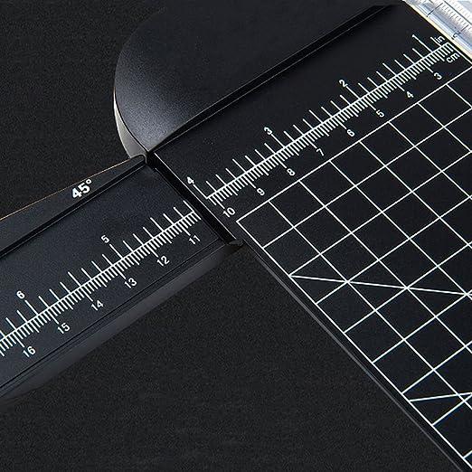 Wanxida A4 Guillotina para papel, papel de titanio de 12 pulgadas ...