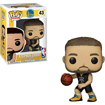 Funko Stephen Curry [Warriors]: NBA x POP! Sports Vinyl Figure & 1 POP! Compatible PET Plastic Graphical Protector Bundle [#043 / 34449 - B]: Toys & Games