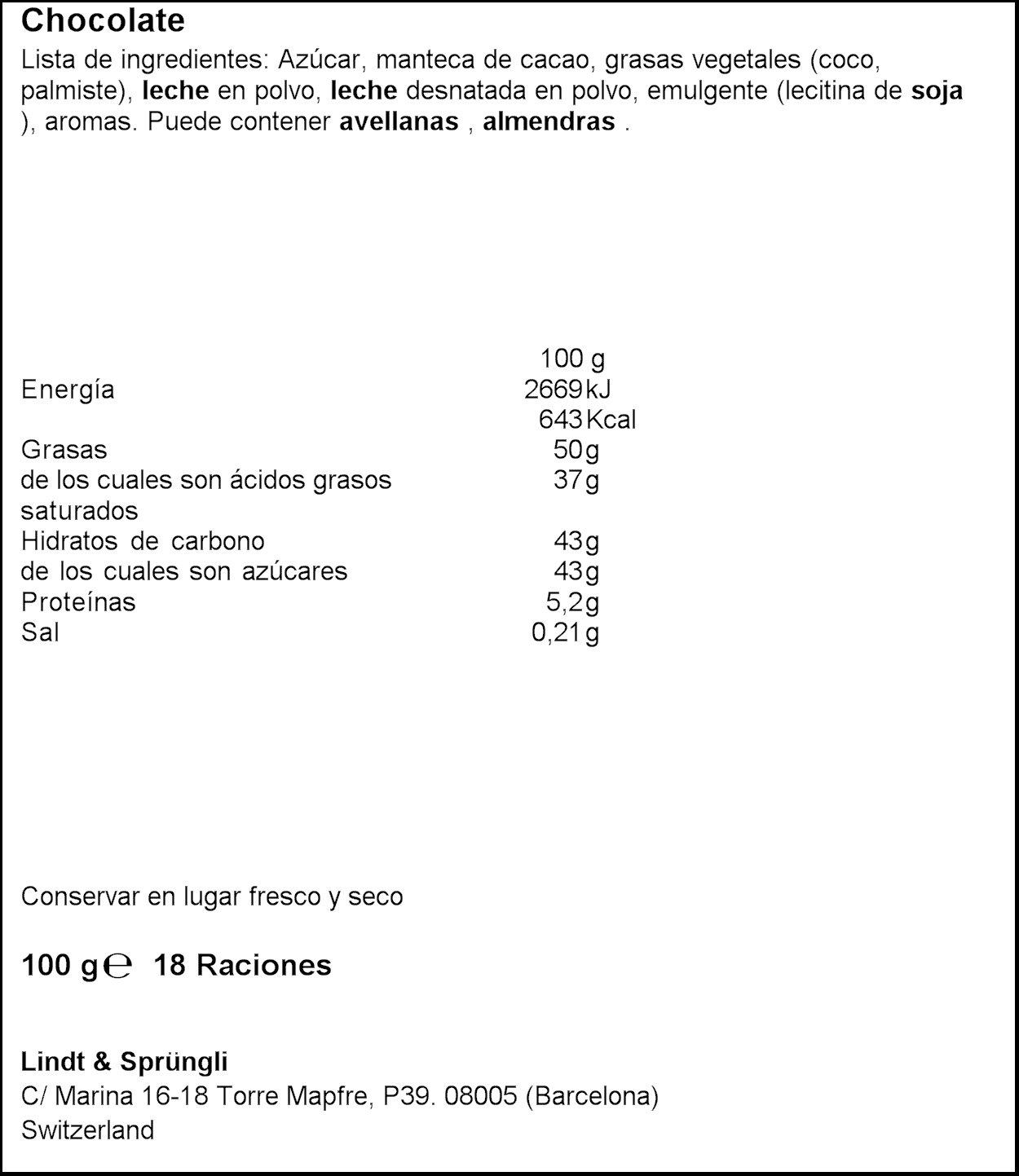 Lindt Lindor Singles Tableta de Chocolate Blanco con Relleno Cremoso - 100 gr: Amazon.es: Alimentación y bebidas