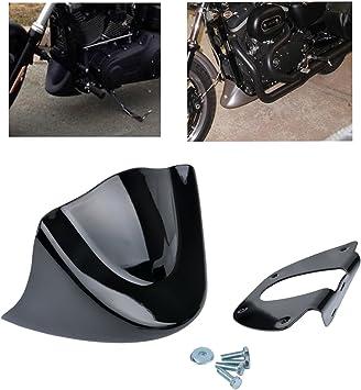 TUINCYN universale moto kit di parafango nero opaco chin spoiler anteriore per Harley Davidson Sportster 2004 2015 2014 XL883 XL1200 2004