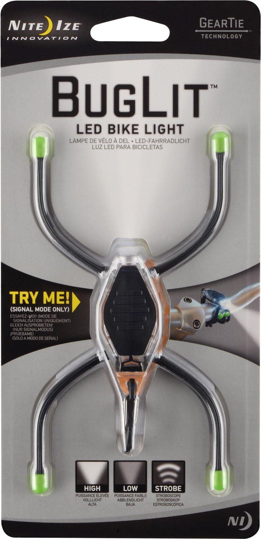 Bendable Mini Flashlight Wrappable Nite Ize BugLit LED Micro Flashlight Green with White LED Black