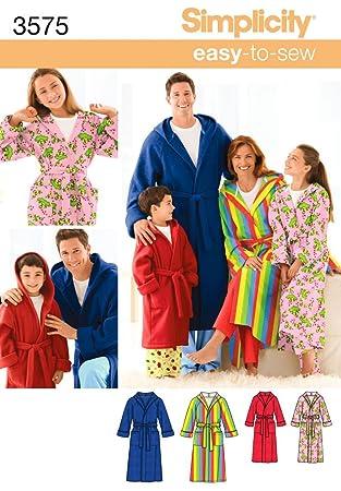 Simplicity 3575 Schnittmuster Robe Damen/Herren / Kinder: Amazon.de ...