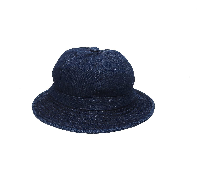 YueLian Women Demin Casual Camping Sun Hat Cap Foldable Ladies Jean Bucket Hats Sunbonnet Blue