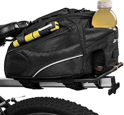BV Bike Commuter Carrier Trunk Bag with Velcro Pump  Small Water Bottle Pocket