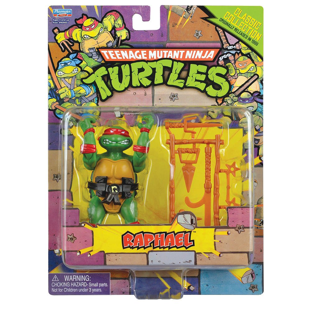 Teenage Mutant Ninja Turtles Classic Collection Raphael Action Figure 4 Inches