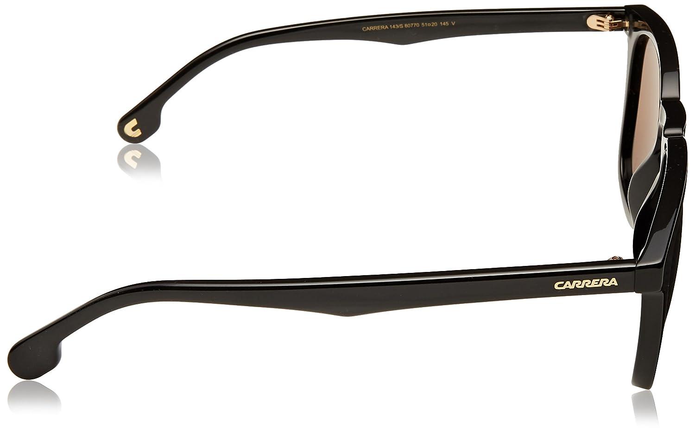 Carrera Mens 143//s Square Sunglasses Black 51 mm