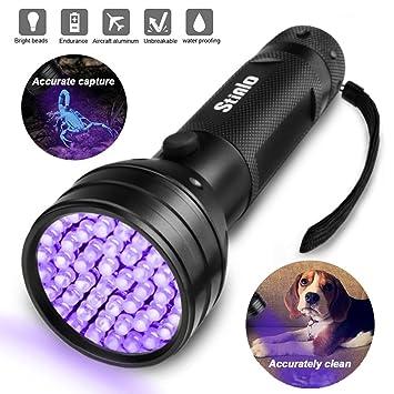 Una Linterna UV Luz Negra Super 51 guidata palmare perro orinal de gato mancha sul Alfombra Detector ...