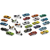 Diecast Cars And Motorcycles Toys – 25 Piece Assorted Cars And Motorcycle Toys – Gifts, Party Bag Stuffers And Fillers – By Kidsco