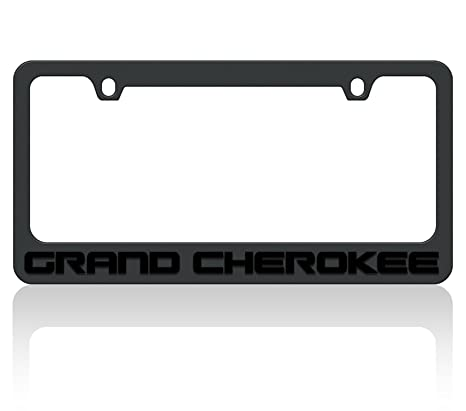 Amazon.com: Eurosport Daytona Black License Plate Frame- 2018 JEEP ...