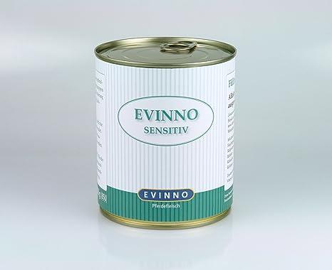 EVINNO Sensitiv Carne de Caballo 12 x 800 g Lata Single proteína húmedo Forro Perros Alimentos schonkost para el Perro o también en los Alimentos ...