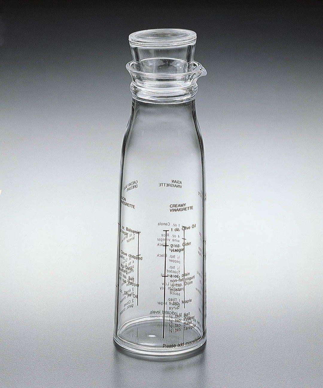 Acrylic Lucite Dressing / Vinigerette Mixer bottle Sparkle