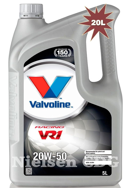 Valvoline VR1 De carreras 20 W-50 Aceite de motor 4 x 5L=20 L: Amazon.es: Coche y moto