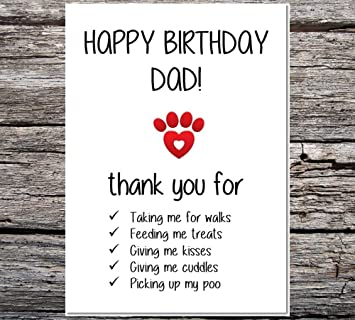 funny af cards funny from the dog happy birthday dad thanks all