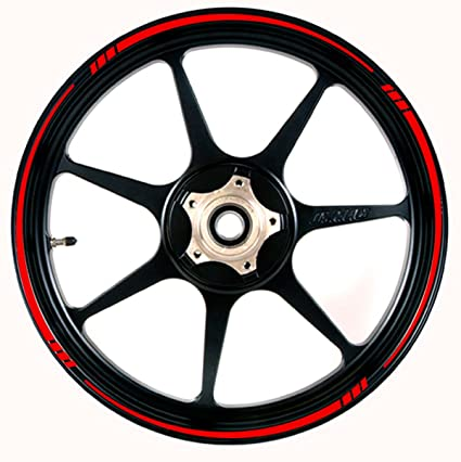 Vehicleartz Red Wheel Rim Tape Tapered Stripe Fit All Makes Of Motorcycles Cars Trucks