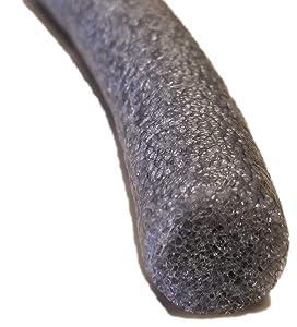 "Sashco 30251 Pre-Caulking Filler Rope Backer Rod Roll, 100' Length x 1/4"" Width, Grey, 1/4"" x 100'"