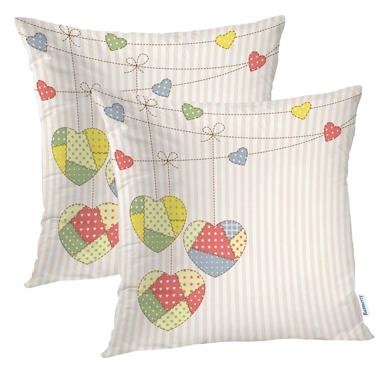 Amazon.com: Batmerry Checkered Pillow Cover 18x18 Inch Set ...