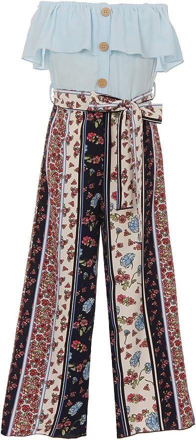 60s 70s Kids Costumes & Clothing Girls & Boys iGirlDress Girls Wide Leg Off Shoulder Elegant High Waist Rompers Palazzo Pants Trousers Jumpsuits USA 4-14 $29.99 AT vintagedancer.com