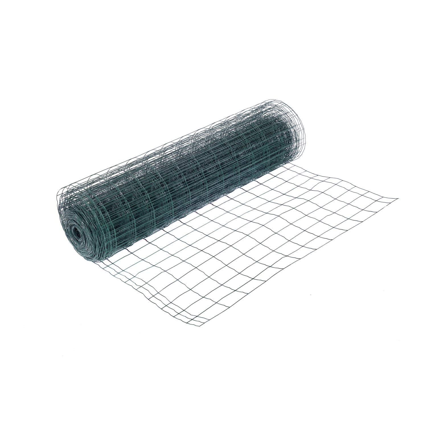 Oypla 1.2m x 25m Green PVC Coated Galvanised Steel Wire Mesh Fencing Garden Euro Stock Fencing