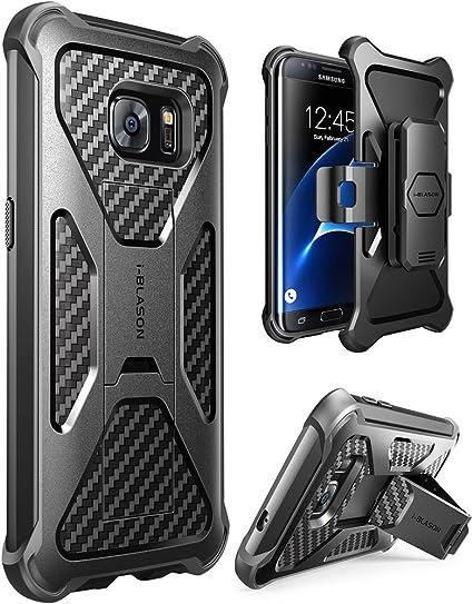 i-Blason Funda Galaxy S7 Edge Carcasa con Soporte y Clip de Cinturon Case Compatible con Samsung Galaxy S7 Edge 2016 Negro: Amazon.es: Electrónica