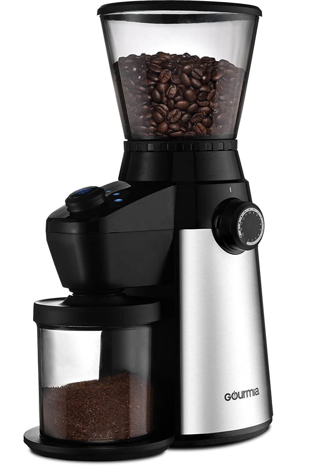 Gourmia GCM4850 Grind and Brew Coffee Maker with Built-In Grinder