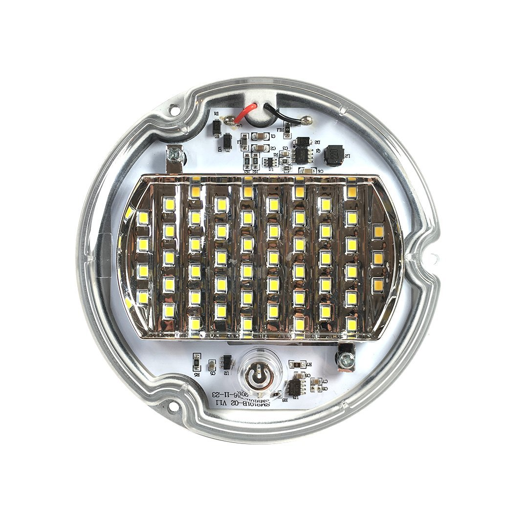 Driver side WITH install kit 1993 International 4000 SERIES Post mount spotlight 6 inch -Black Larson Electronics 1015P9JJ994 LED