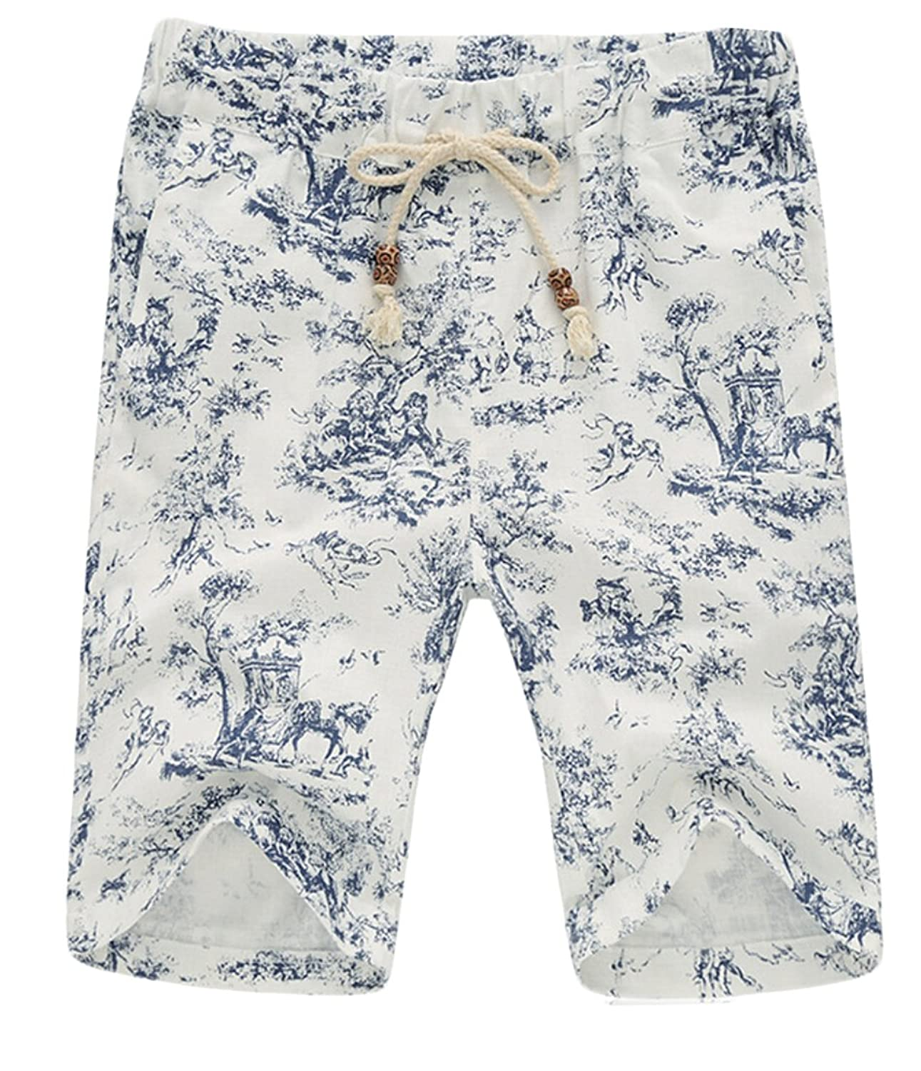 Acquaa Mens Casual Printed Loose Summer Boardshorts Shorts