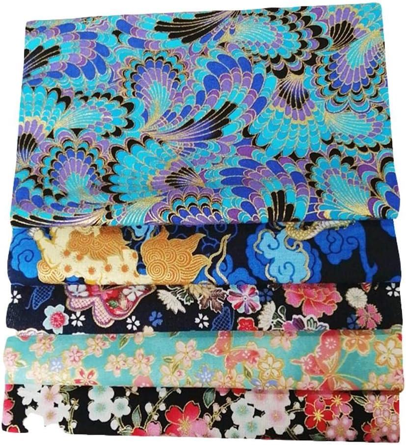 Telas Decorativas Costura Y Manualidades por Metros Retales Tela para Coser Suppemie Tela Algodon Telas Patchwork 5 Piezas 50 X 50 Cm