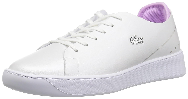 Lacoste Women's Eyyla Sneakers B072KJMRXD 7 B(M) US|White/Light Purp Leather