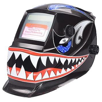 oscurecimiento automático solar Casco de Soldadura ARC TIG MIG máscaras de molienda: Amazon.es: Coche y moto