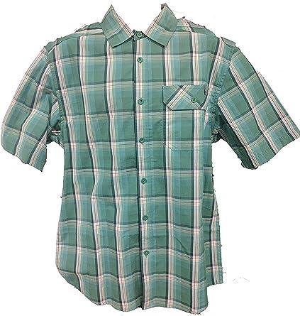 UUYUK Men Cotton Retro Plaid Flannel Casual Long Sleeve Shirts