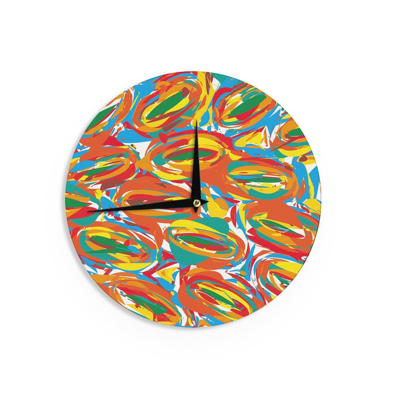 12-Inch Kess InHouse Matthias Hennig Go Left Crazy Wall Clock