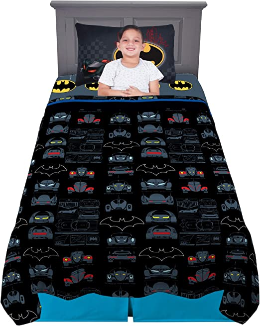 3 piece Set Warner Brothers Batman /'Guardian Speed/' Kids Sheet Set Size Twin