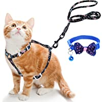Simpeak Cat Harness with Leash Set Escape Proof, Adjustable H-Shaped Reinforced Kitten Harness and Leash Set with…