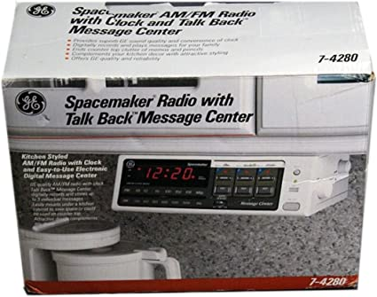 Amazon Com Ge Spacemaker Clock Radio With Talk Back Message